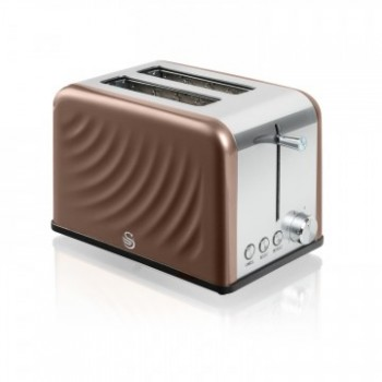 2 Slice Stainless Steel Twist Toaster - Copper