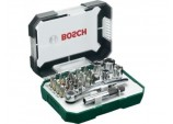 26 Piece screwdriver bit and ratchet set