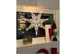 Christmas Acrylic Star 7 tips 32 Leds lights - Warm white