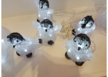 Xmas Five Baby Penguins with 40 White LEDs