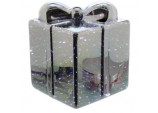 12cm Battery operated Mercury effect glass parcel