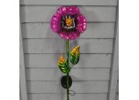 Solar Powered Purple Pansy Border Light by Smart Solar