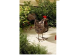 Solar Metal Scroll Upright Hen
