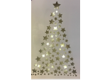 Xmas LED LIGHT UP CHRISTMAS STAR TREE Wall Art CANVAS PICTURE w timer
