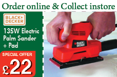135W Electric Palm Sander Plus Pad – Now Only £22.00