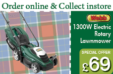Webb Electric 33cm Rotary lawnmower – Now Only £69.00