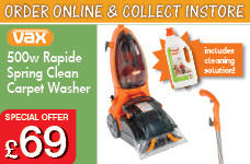 500w Rapide Spring Carpet Washer – Now Only £69.00