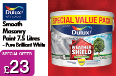 Smooth Masonry Paint 7.5L - Pure Brilliant White – Now Only £23.00