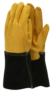 Mens Premium Leather Gauntlet Gloves – Now Only £12.00