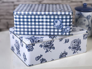 Vintage Indigo Set Of 2 Rectangular Cake Tins – Now Only £12.00