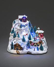 Mechanical Christmas Decoration Ski Mountain Decor – Now Only £39.00