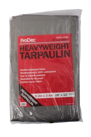 Heavyweight Tarpaulin 18 x 12 (5.4 x 3.6m)  – Now Only £14.00