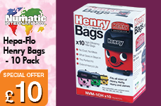 NVM-1CH Hentry 10pk Cleaner Bags – Now Only £10.00