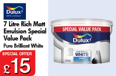7 Litre Rich Matt Emultion Pure Brilliant White Special Value Pack – Now Only £15.00