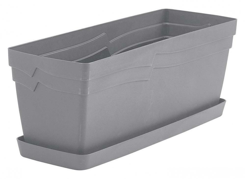 49cm Boston Outdoor Window Box Planter - Stone – Now Only £6.00
