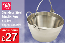 Stainless Steel Maslin Pan 6.8L Capacity Approx – Now Only £27.00