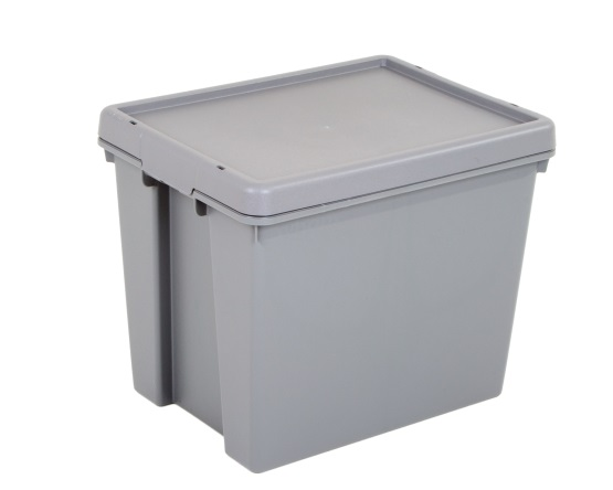 Wham® Bam Upcycled 24L Box and Lid - Grey – Now Only £6.00