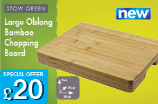 Bamboo Oblong Chopping Board  - Large 50 x 30 x 4cm – Now Only £20.00