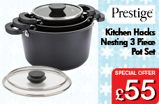 Kitchen Hacks Nesting 3 Piece Pot Set – Now Only £55.00