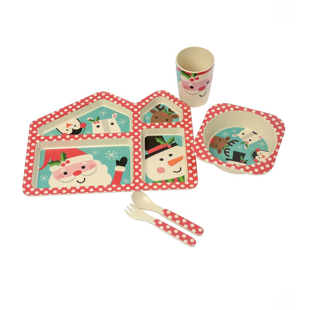 Santa and Friends Kids Bamboo 5 Piece Set – Now Only £9.00