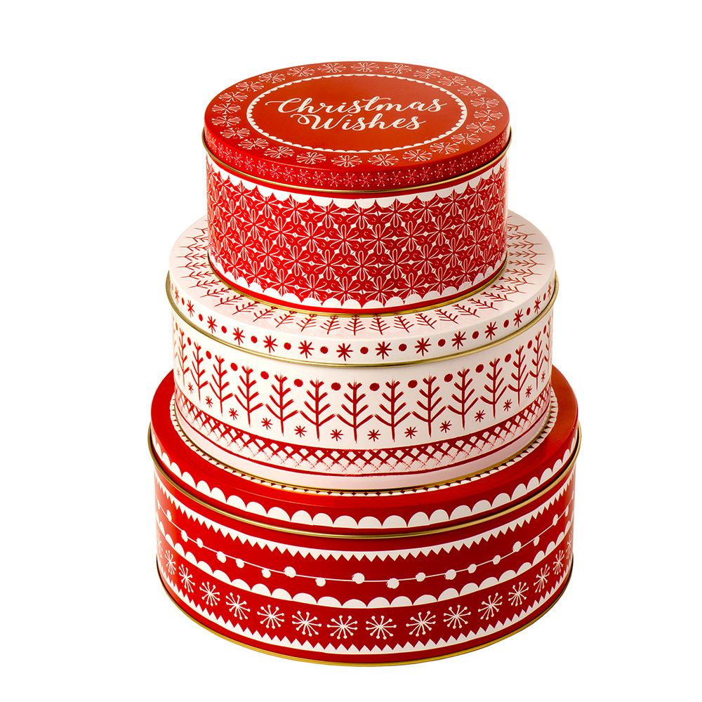 Xmas Cke Tin Set of 3 – Now Only £15.00