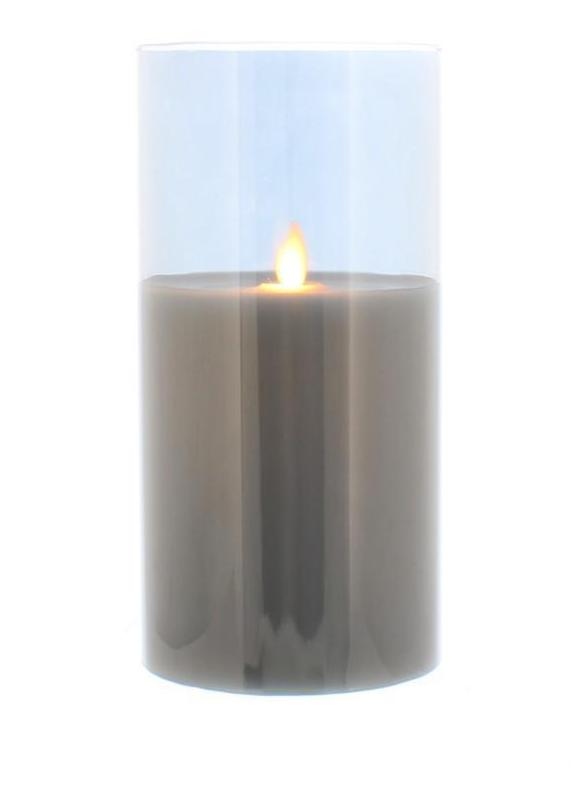 20cm LED wax Candle in gold / grey glass tube – Now Only £14.00