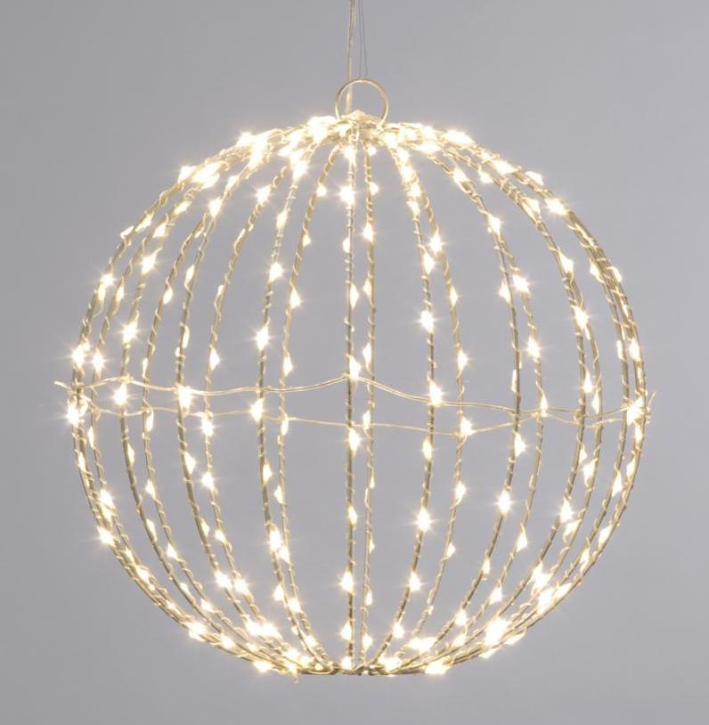 30cm Folding twinkling dewdrop ball - Warm white – Now Only £30.00
