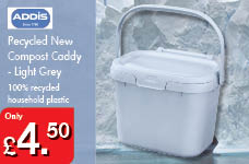 Recycled New Compost Caddy -Light Grey – Now Only £4.50