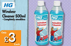 Window Cleaner 500ml – Now Only £3.00