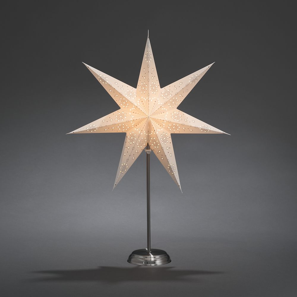 230v Standing Paper Star - White – Now Only £19.00