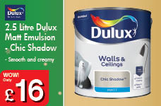 2.5 Litre Matt Emulsion -  – Now Only £16.00