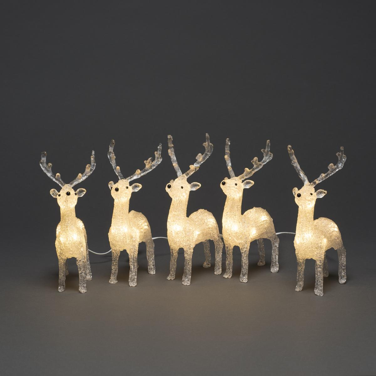 Acrylic Reindeers - Set of 5 – Now Only £20.00