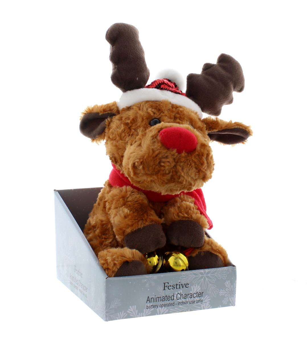 Animated Reindeer with Jingle Bells – Now Only £15.00