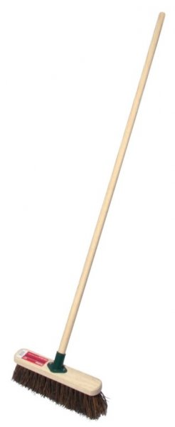 30.5cm Stiff Sweeping Broom with Handle – Now Only £6.00